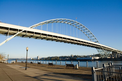 Fremont Bridge in Portland Oregon : Stock Photo
