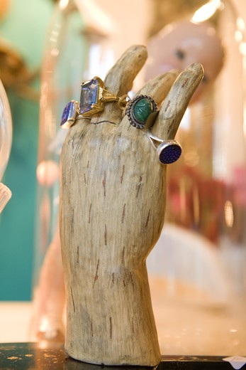 Mannequin Hand with Rings : Stock Photo