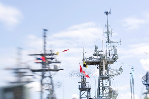Stock Photo: 1626R-21465 Masts of Military Ships