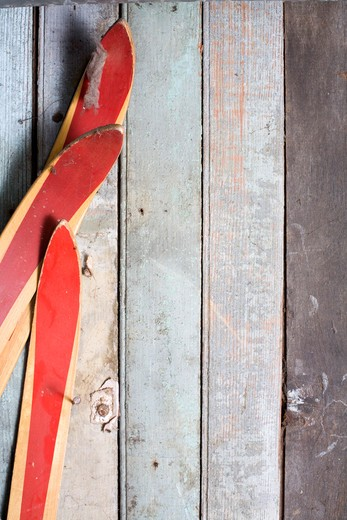 Skis and Boards : Stock Photo