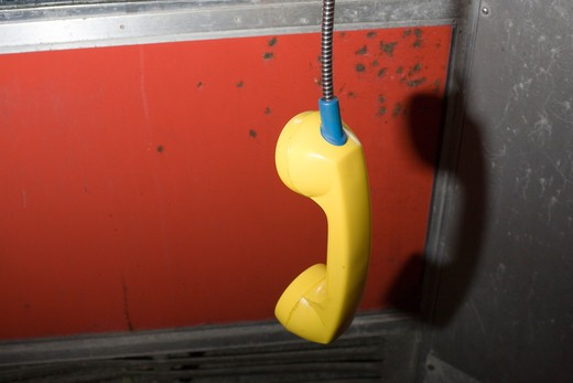Stock Photo: 1626R-21745 Pay Phone off the Hook