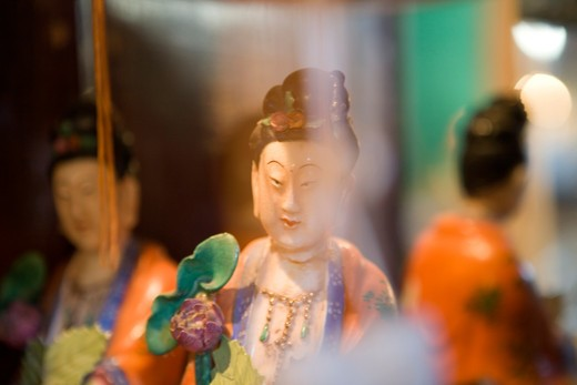 Stock Photo: 1626R-21956 Japanese Figurine and Mirror