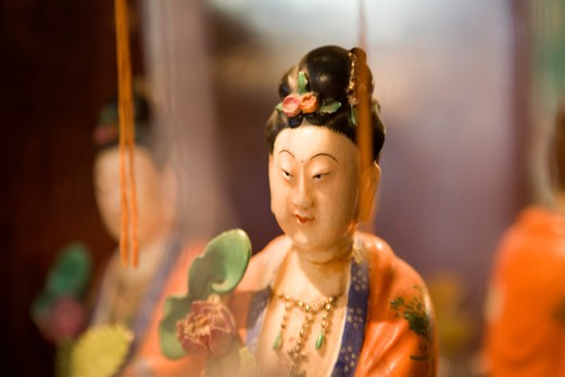 Stock Photo: 1626R-21957 Japanese Figurine and Mirror