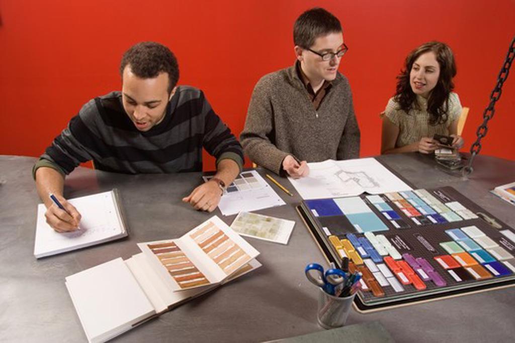 Distorted Boardroom Meeting : Stock Photo
