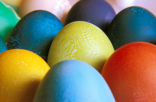 Stock Photo: 1626R-22436 Easter Eggs
