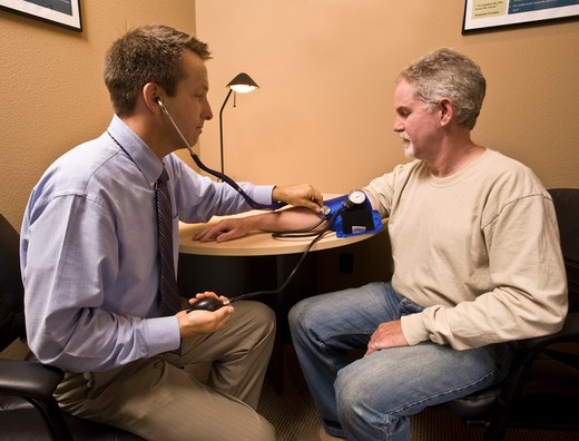 Checking Blood Pressure : Stock Photo