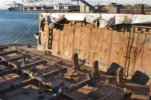Stock Photo: 1626R-22907 Dry Dock