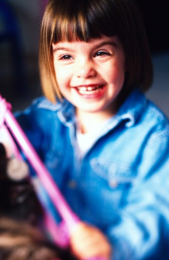 Little Girl Laughing : Stock Photo