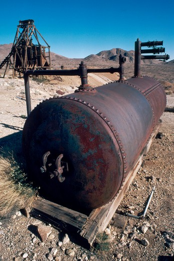Stock Photo: 1626R-3232 Rusty Oil Tank