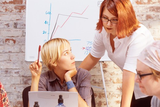 Stock Photo: 1626R-3380 Young Women in Business Meeting