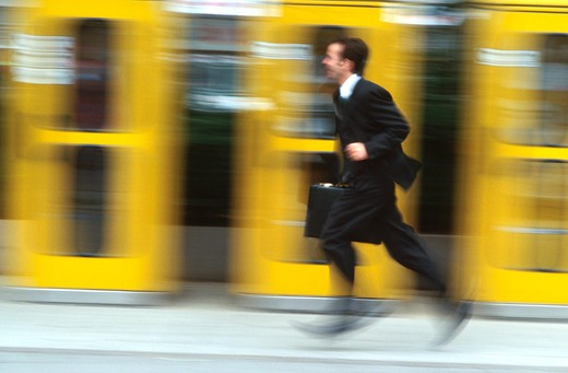 Stock Photo: 1626R-4884 Man Running