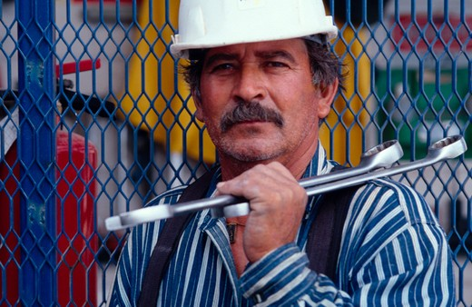 Stock Photo: 1626R-4927 Construction Worker
