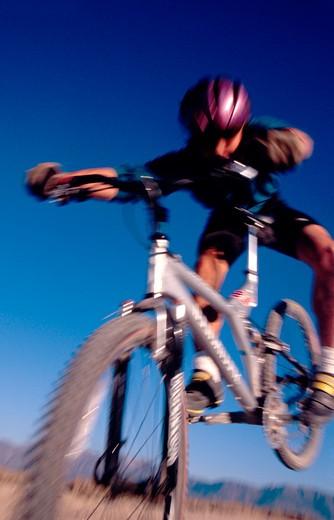 Man Doing Tricks On Bike : Stock Photo