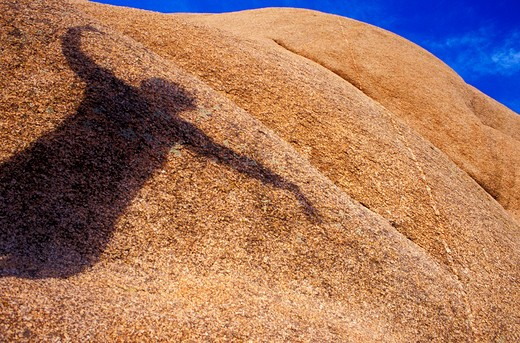 Shadow on Sandy Rock : Stock Photo