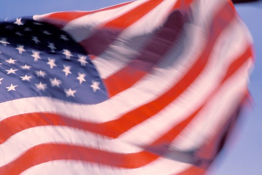 Waving American Flag : Stock Photo
