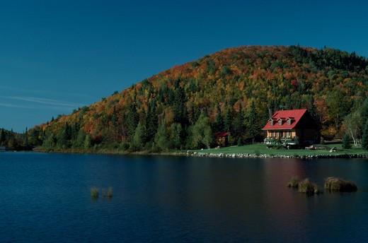 Canada, Quebec, Laurentian Mountains : Stock Photo