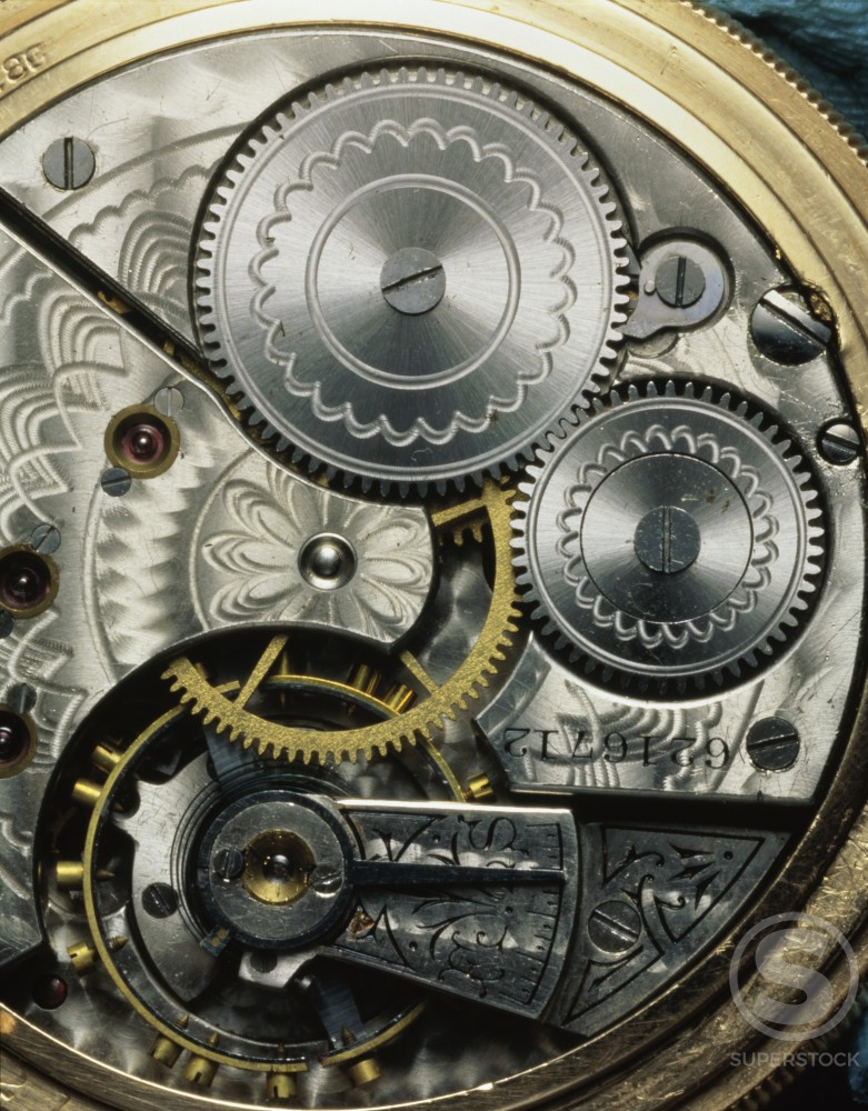 Stock Photo: 164-2210A Pocket Watch Gears