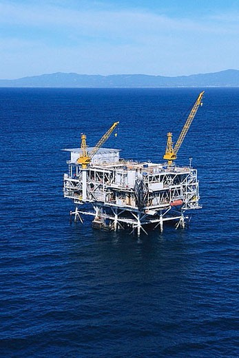 Oil Drilling Platform at Sea : Stock Photo