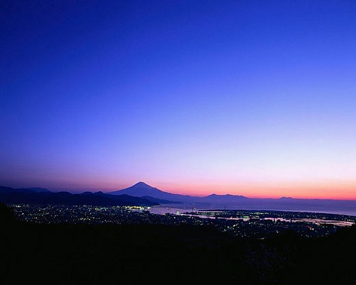 Mount Fuji and Clear Night Sky : Stock Photo