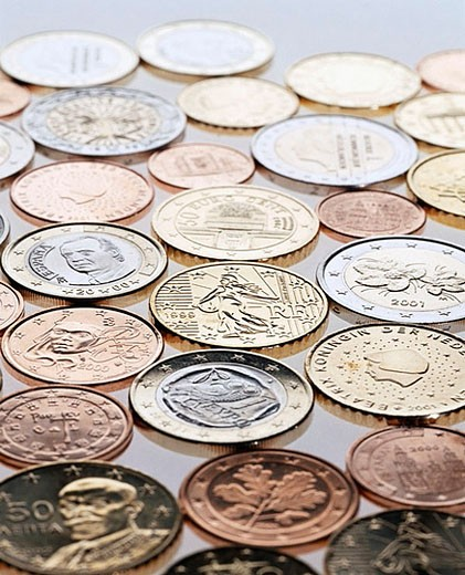 Euro Coins : Stock Photo