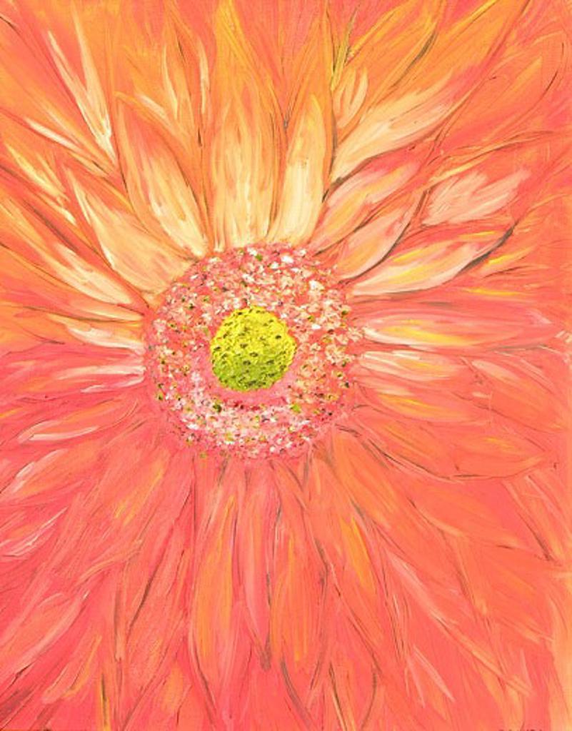 Stock Photo: 1648-125 Orangegazmic 2005 Karen Flammini (b.20th C American) Oil on canvas