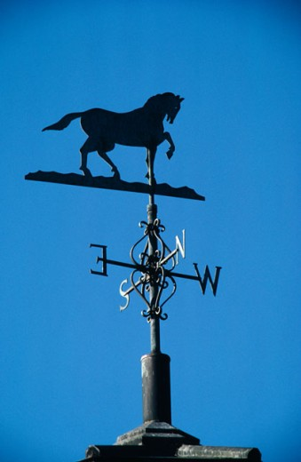 Low angle view of a weather vane : Stock Photo
