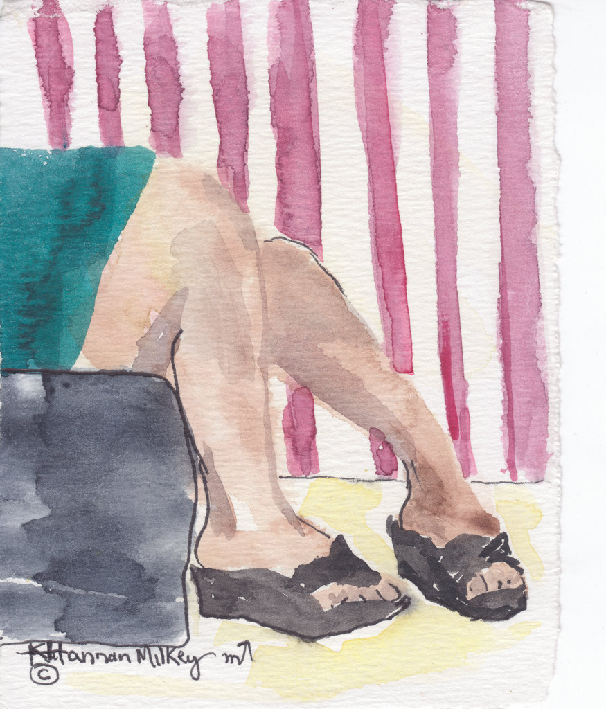 Stock Photo: 1651-201 Shoes #9, watercolor