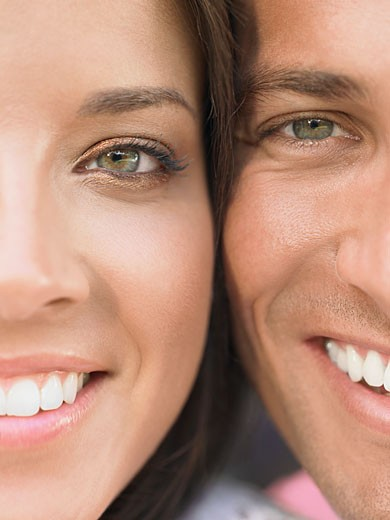 Young Couple Cheek to Cheek : Stock Photo