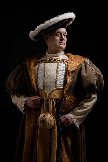 Stock Photo: 1654-30144 Portrait of King Henry VIII in historical costume