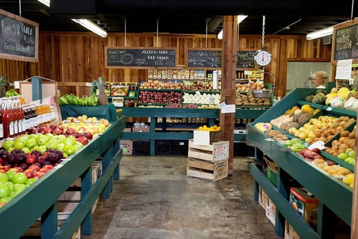 Palm Desert, California, USA. Interior view of grocery store : Stock Photo