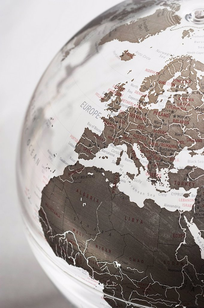 Inflatable Globe showing Europe : Stock Photo