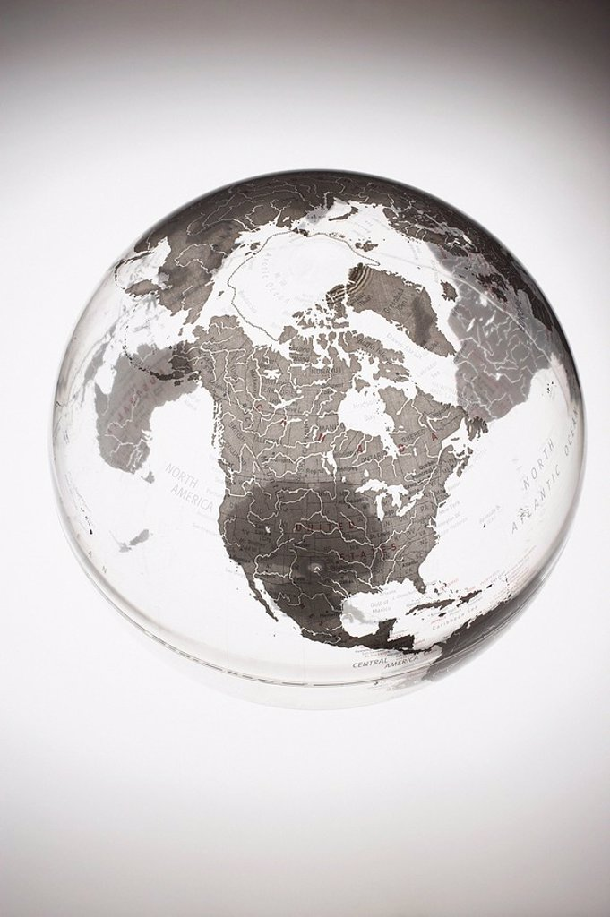 Inflatable Globe showing North America : Stock Photo