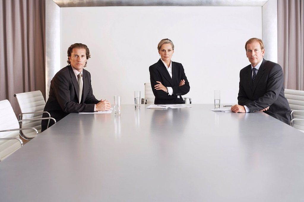 Stock Photo: 1654R-13326 Business Executive Team in Conference Room