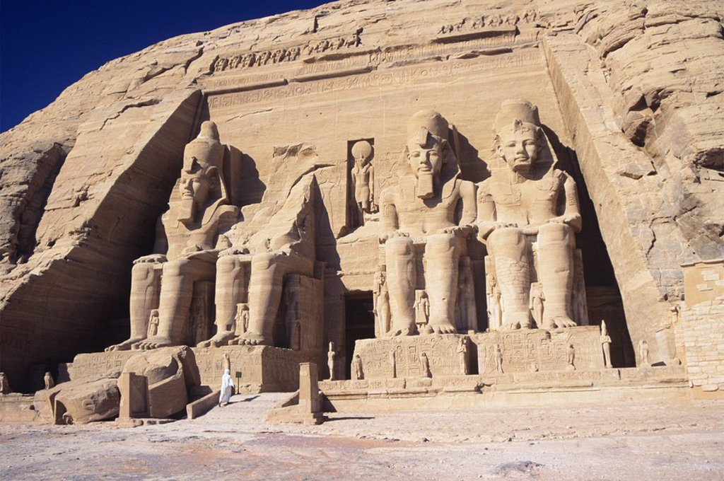 Temple of Ramesses II at Abu Simbel : Stock Photo