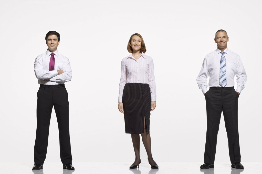 Stock Photo: 1654R-14060 Three Businesspeople