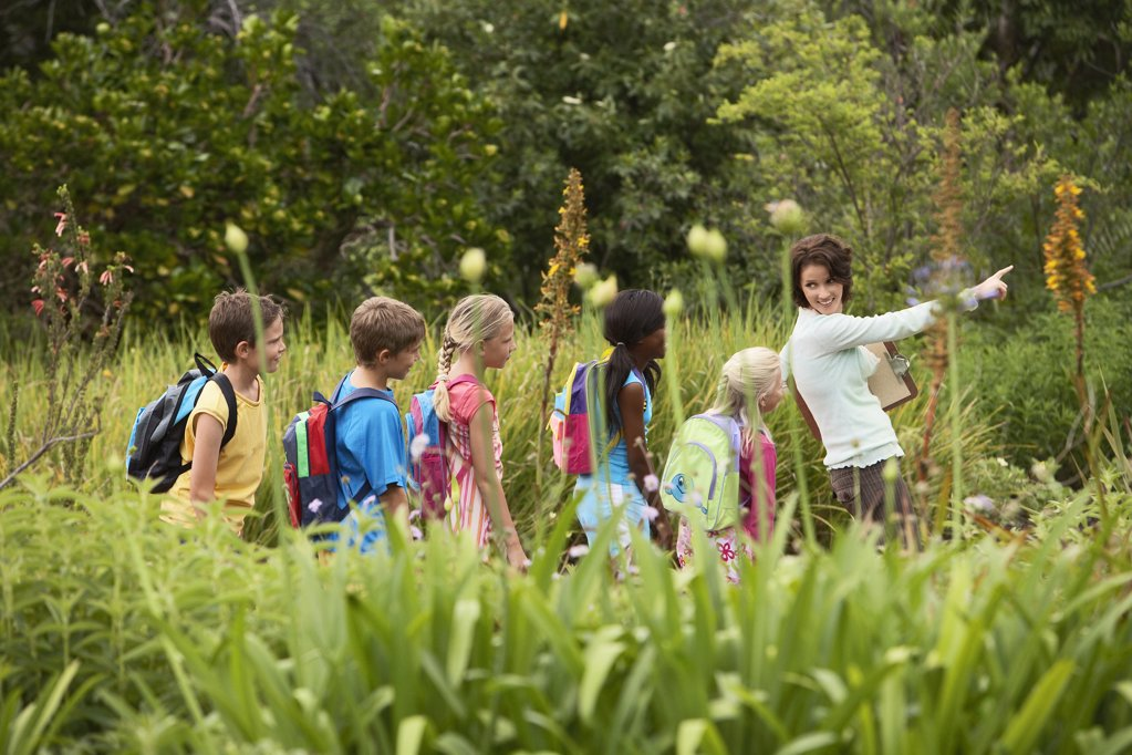 Children on Nature Field Trip : Stock Photo