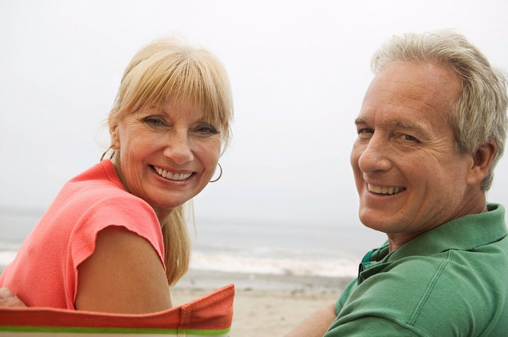 Couple at beach portrait : Stock Photo