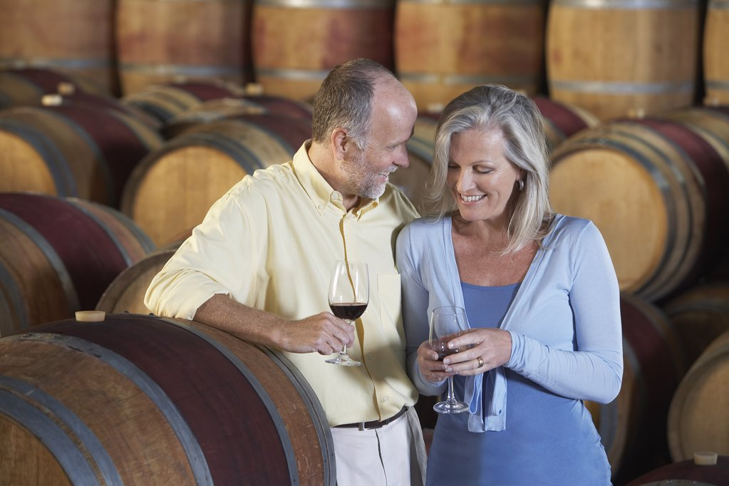 Couple Enjoying a Glass of Wine : Stock Photo