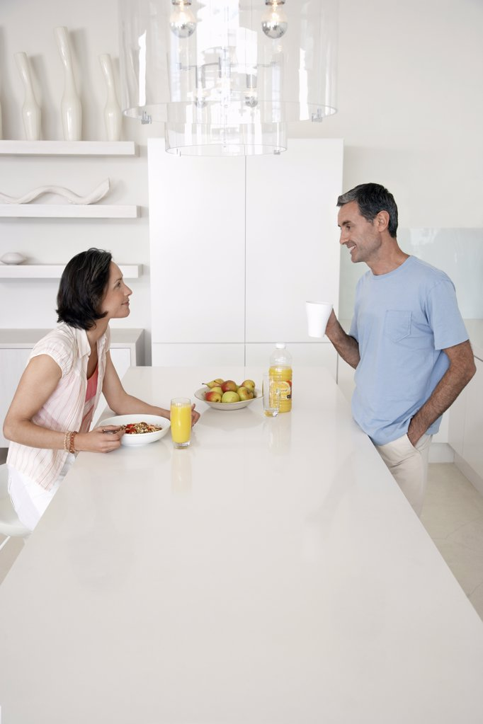 Couple in Kitchen : Stock Photo