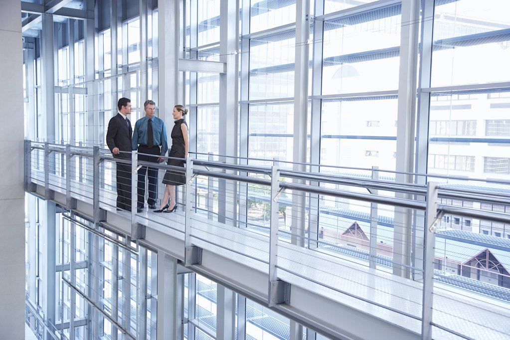 Businesspeople in Modern Building : Stock Photo