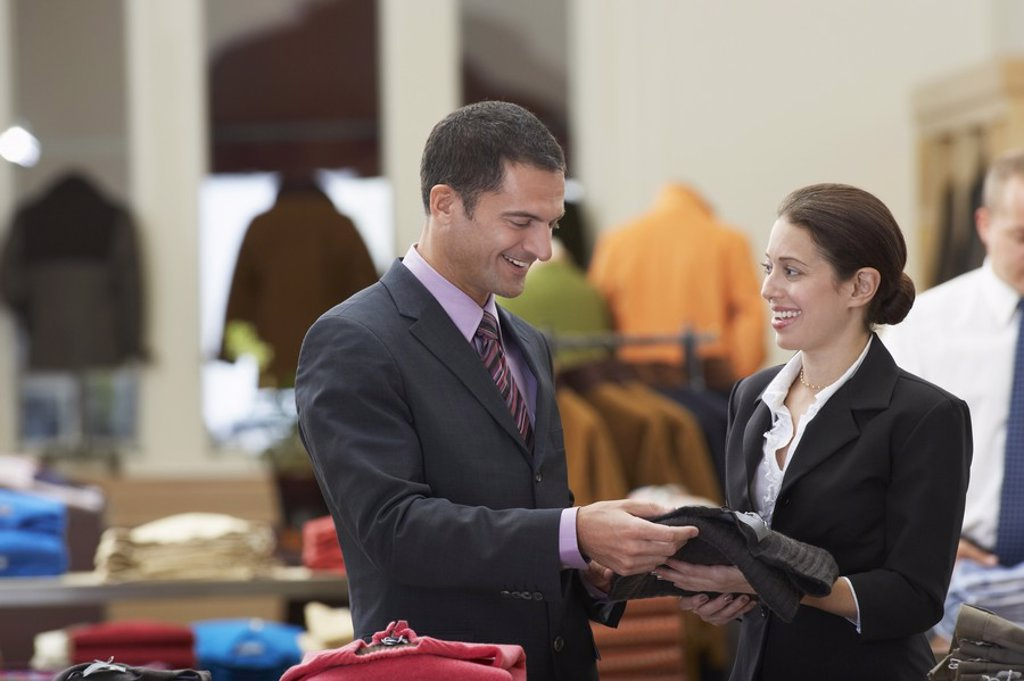 Man in Clothing Store : Stock Photo