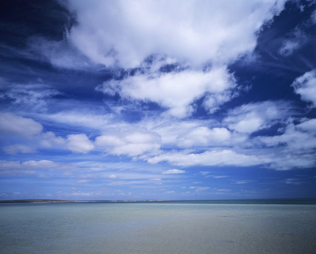 Stock Photo: 1654R-18153 Clouds over ocean