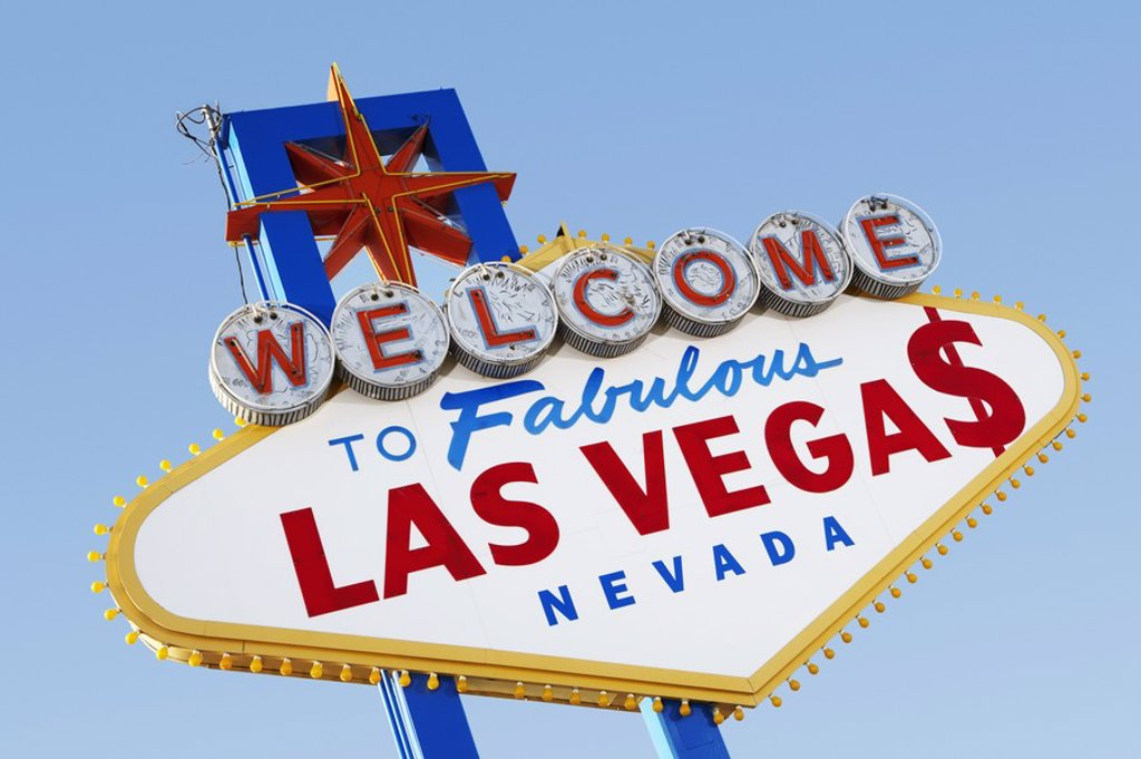 Las Vegas Welcome Road Sign : Stock Photo