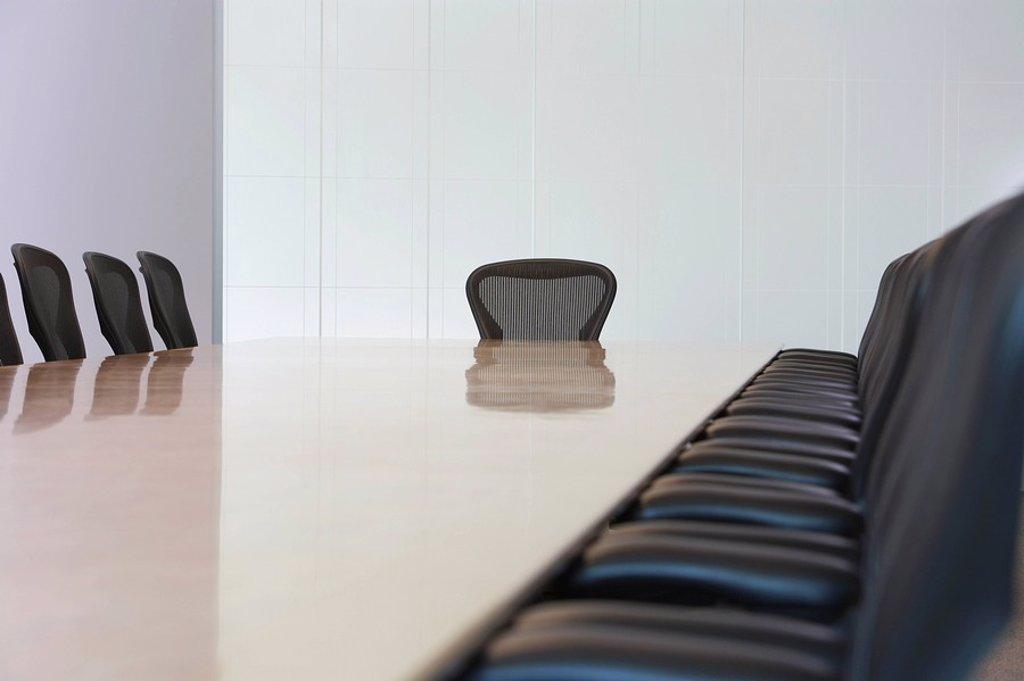 Stock Photo: 1654R-20909 Empty boardroom