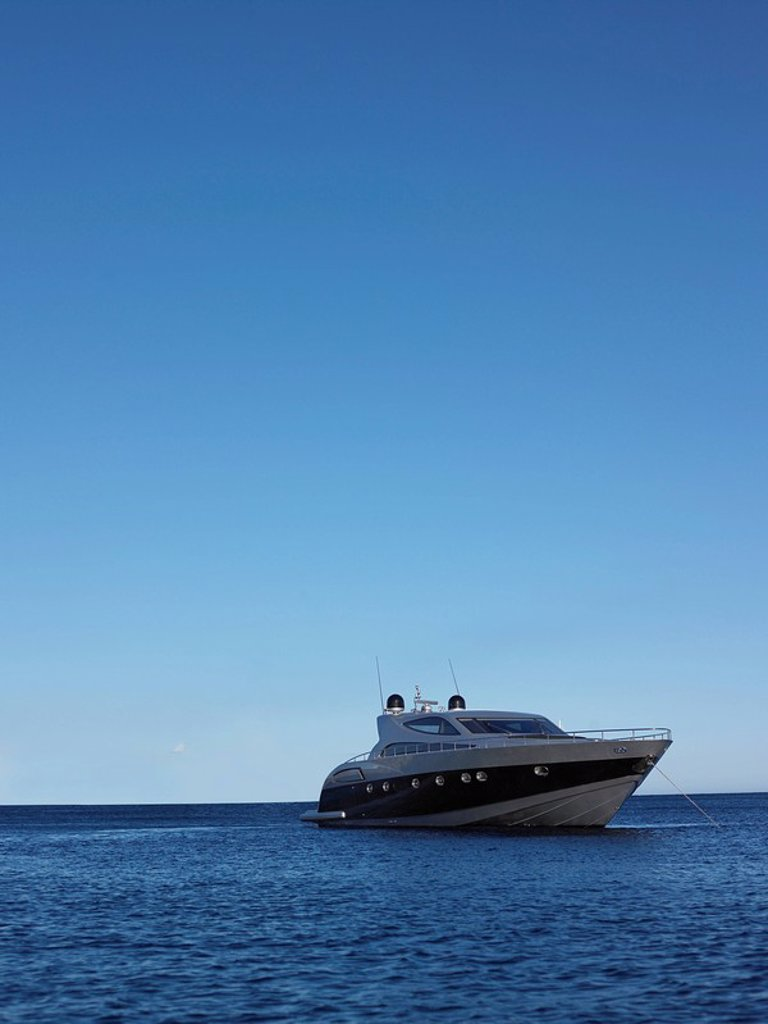 Stock Photo: 1654R-22736 Yacht on the Water