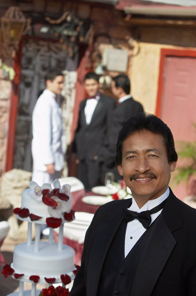 Man in tuxedo at Quinceanera : Stock Photo