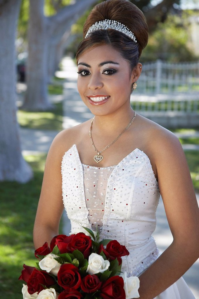Stock Photo: 1654R-26636 Portrait of girl 13_15 at Quinceanera