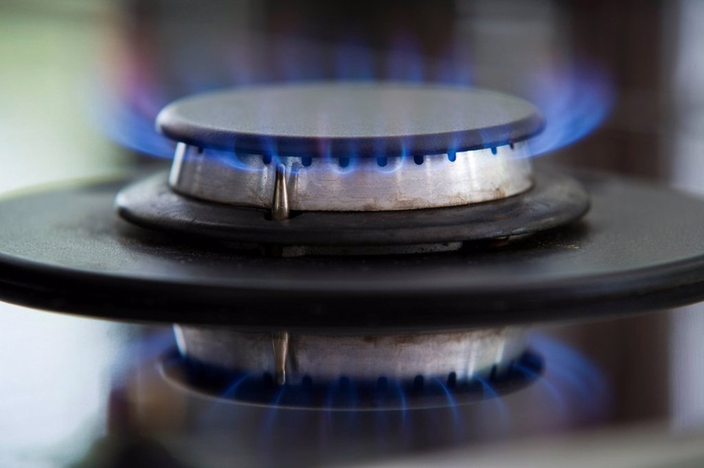 Close_up view of burner : Stock Photo