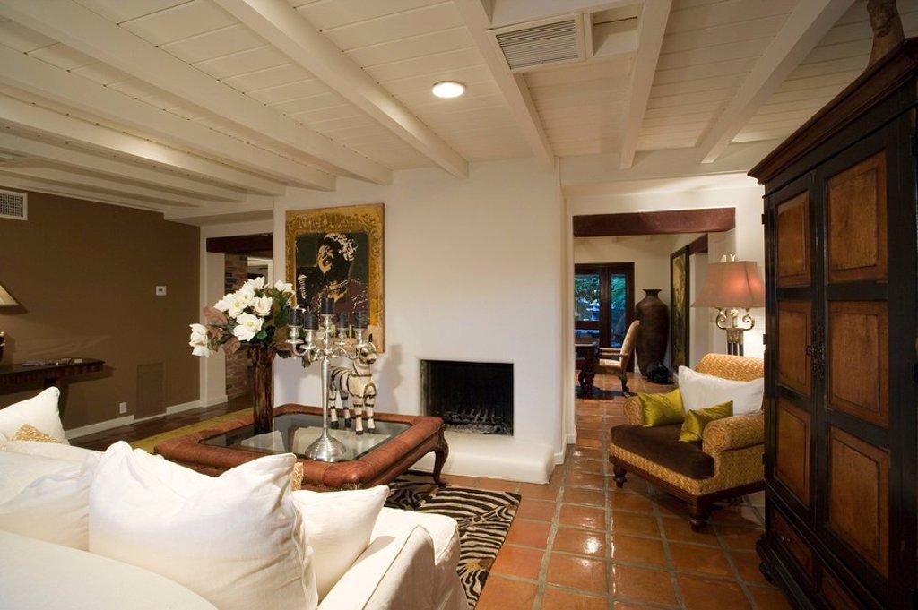Stock Photo: 1654R-32618 Luxury interior design living room
