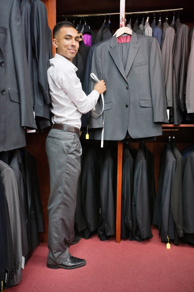 Stock Photo: 1654R-48039 Full_length of tailor working at tailor shop